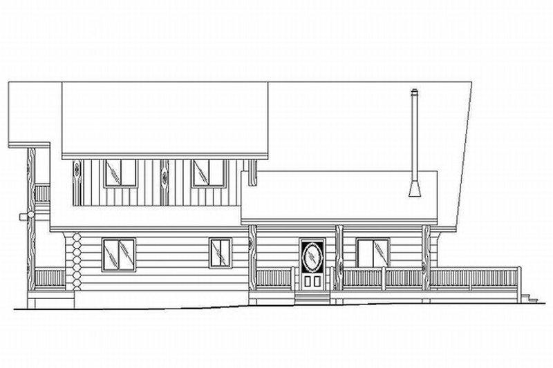 Log Exterior - Rear Elevation Plan #117-118 - Houseplans.com