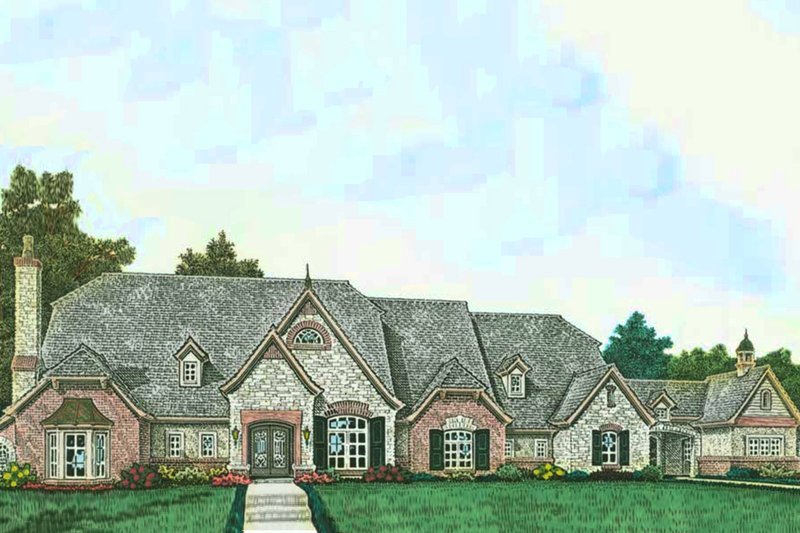 House Plan Design - European Exterior - Front Elevation Plan #310-1315