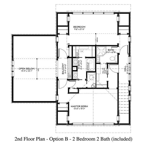 Country Floor Plan - Upper Floor Plan #917-13