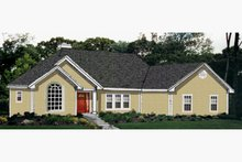 Ranch Exterior - Front Elevation Plan #3-162