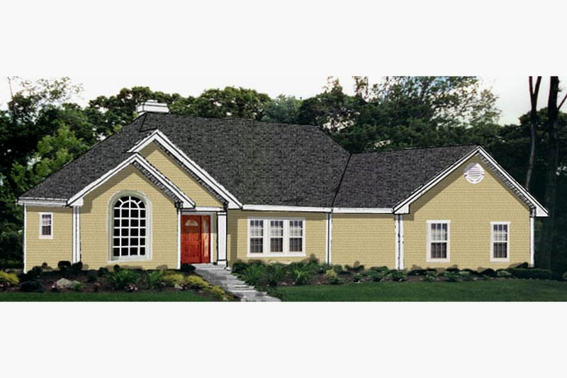 Dream House Plan - Ranch Exterior - Front Elevation Plan #3-162
