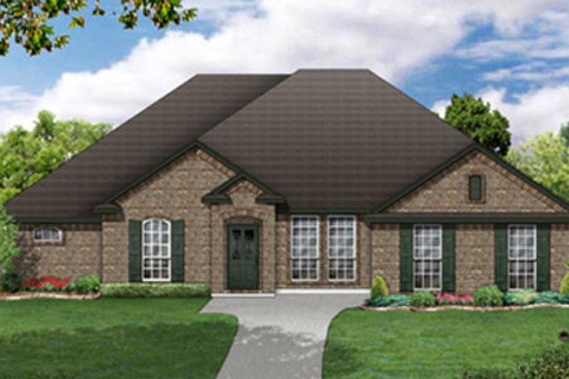 European Exterior - Front Elevation Plan #84-483