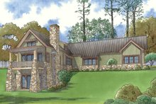Craftsman Exterior - Rear Elevation Plan #923-73