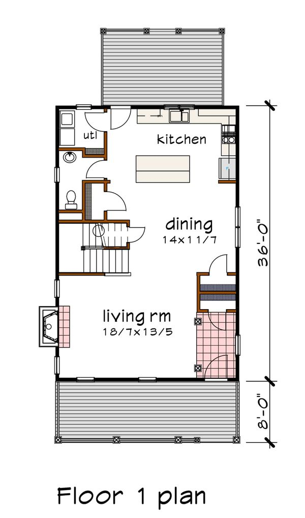 Southern Floor Plan - Main Floor Plan #79-229