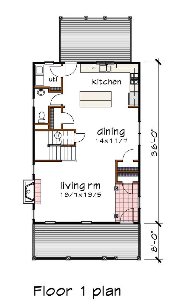 Home Plan - Southern Floor Plan - Main Floor Plan #79-229