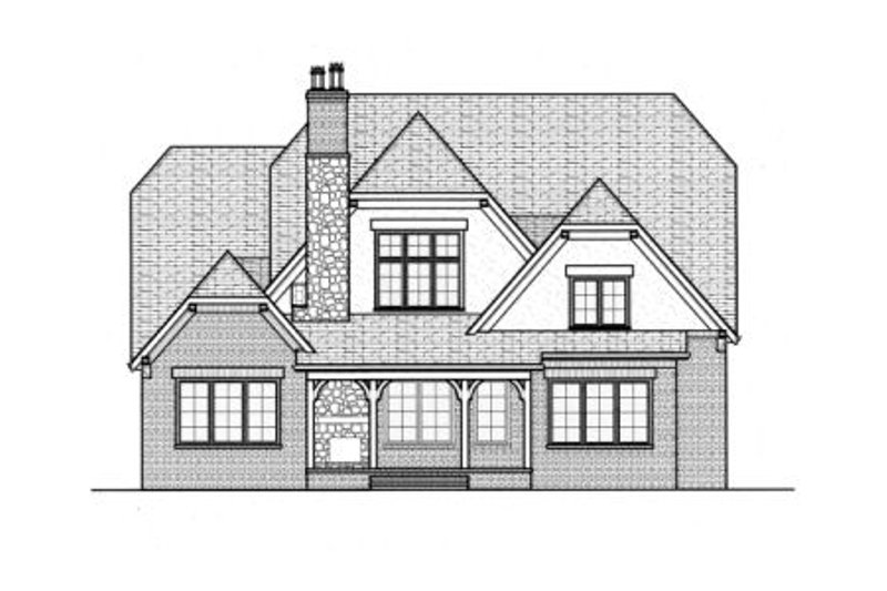 European Exterior - Rear Elevation Plan #413-829 - Houseplans.com