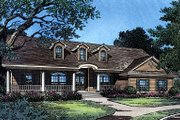 Ranch Style House Plan - 3 Beds 2 Baths 2127 Sq/Ft Plan #417-188 Exterior - Front Elevation