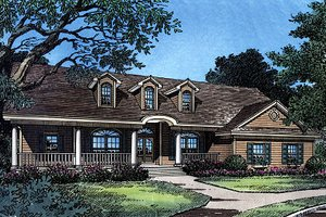 Ranch Exterior - Front Elevation Plan #417-188