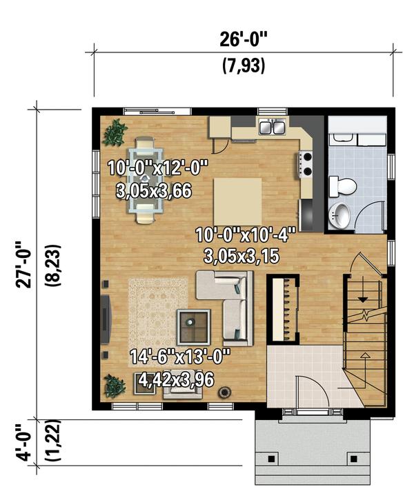 Contemporary Floor Plan - Main Floor Plan Plan #25-4328