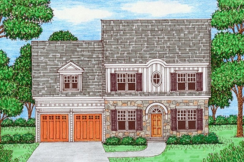 Farmhouse Style House Plan - 4 Beds 3 Baths 2919 Sq/Ft Plan #413-878 Exterior - Front Elevation