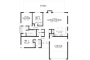 Contemporary Style House Plan - 3 Beds 2 Baths 1624 Sq/Ft Plan #48-668 Floor Plan - Main Floor Plan