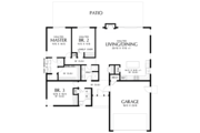 Contemporary Style House Plan - 3 Beds 2 Baths 1624 Sq/Ft Plan #48-668 Floor Plan - Main Floor