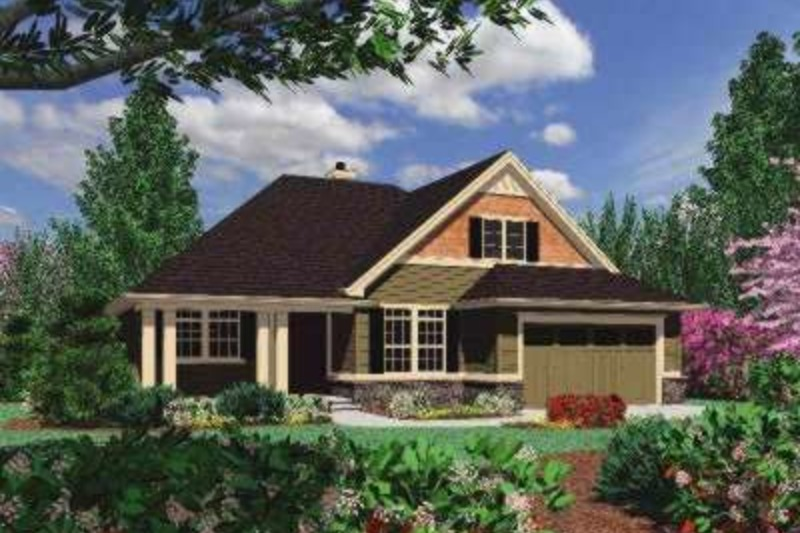 Craftsman Exterior - Front Elevation Plan #48-163