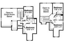 Traditional Floor Plan - Upper Floor Plan Plan #124-810