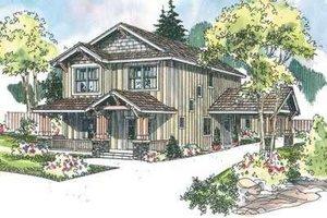 Craftsman Exterior - Front Elevation Plan #124-609