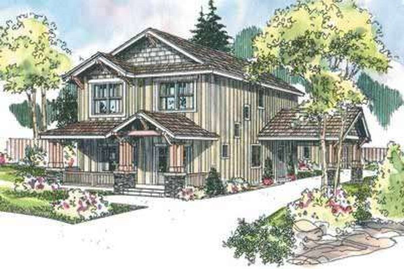 Craftsman Style House Plan - 3 Beds 2.5 Baths 2119 Sq/Ft Plan #124-609 Exterior - Front Elevation