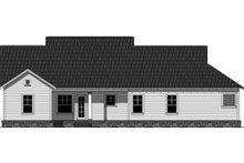 Home Plan - Traditional Exterior - Rear Elevation Plan #21-334