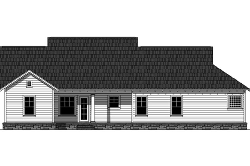 Traditional Exterior - Rear Elevation Plan #21-334 - Houseplans.com