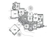 European Style House Plan - 5 Beds 5.5 Baths 6685 Sq/Ft Plan #310-354 Floor Plan - Main Floor
