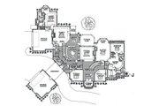European Style House Plan - 5 Beds 5.5 Baths 6685 Sq/Ft Plan #310-354 Floor Plan - Main Floor