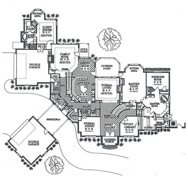 European Floor Plan - Main Floor Plan Plan #310-354