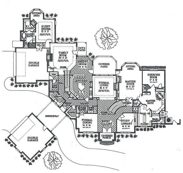 Dream House Plan - European Floor Plan - Main Floor Plan #310-354