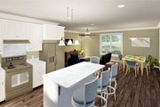 Traditional Style House Plan - 2 Beds 2 Baths 1120 Sq/Ft Plan #44-245