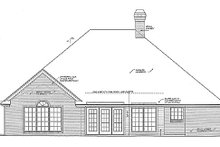 Home Plan - Traditional Exterior - Rear Elevation Plan #310-897