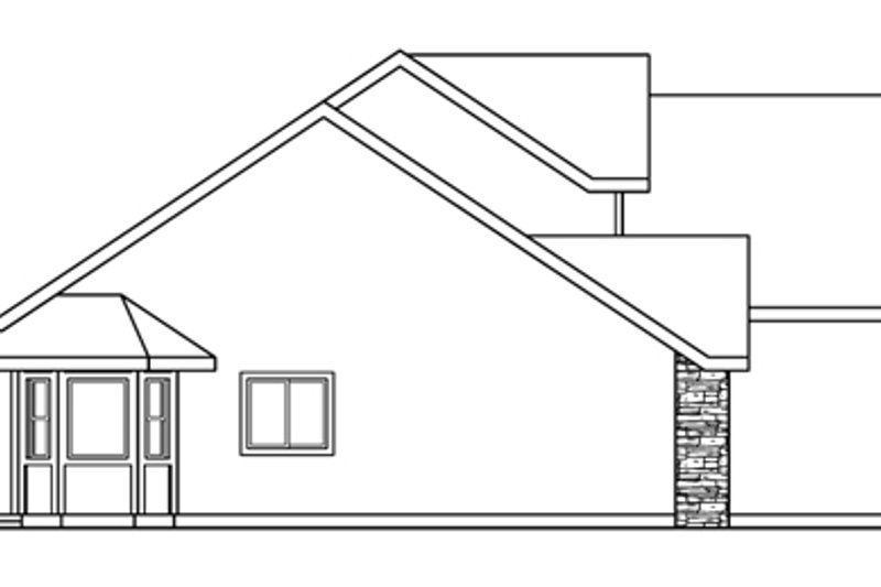Traditional Exterior - Other Elevation Plan #124-602 - Houseplans.com