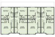 European Style House Plan - 2 Beds 2.5 Baths 1602 Sq/Ft Plan #17-2528 Floor Plan - Upper Floor Plan