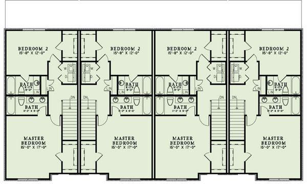 European Floor Plan - Upper Floor Plan Plan #17-2528