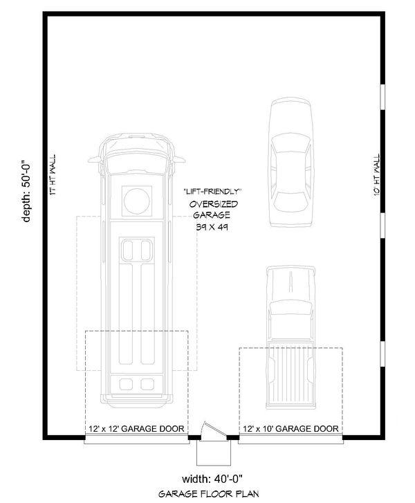 Contemporary Floor Plan - Main Floor Plan Plan #932-210