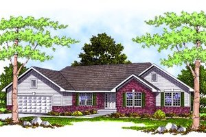 Traditional Exterior - Front Elevation Plan #70-273
