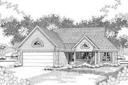 Traditional Style House Plan - 2 Beds 2 Baths 1926 Sq/Ft Plan #120-143 Exterior - Front Elevation