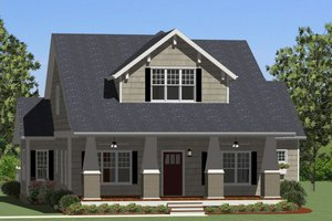 Craftsman Exterior - Front Elevation Plan #898-5