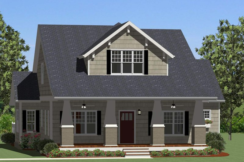 Craftsman Exterior - Front Elevation Plan #898-5