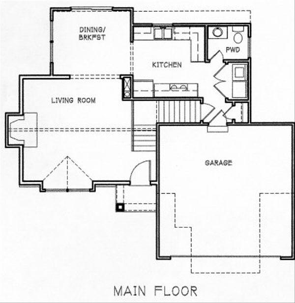 Traditional Floor Plan - Main Floor Plan #6-111