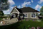 Craftsman Style House Plan - 3 Beds 2.5 Baths 1971 Sq/Ft Plan #51-552 Exterior - Rear Elevation