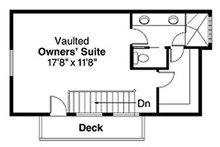 Contemporary Floor Plan - Upper Floor Plan Plan #124-388