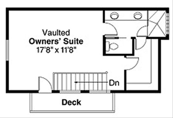 Contemporary Floor Plan - Upper Floor Plan Plan #124-388