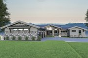 Contemporary Style House Plan - 3 Beds 2.5 Baths 3617 Sq/Ft Plan #1070-88 Exterior - Front Elevation