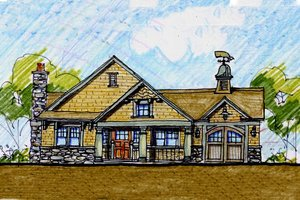 Craftsman Exterior - Front Elevation Plan #440-5