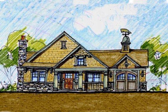Craftsman Exterior - Front Elevation Plan #440-5