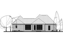 House Design - European Exterior - Rear Elevation Plan #430-121