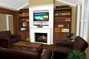 Craftsman Style House Plan - 3 Beds 2 Baths 1627 Sq/Ft Plan #21-364 Interior - Family Room