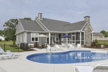 Home Plan Design - Craftsman Exterior - Rear Elevation Plan #929-1025
