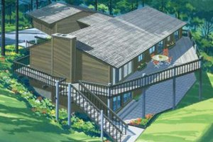 Bungalow Exterior - Front Elevation Plan #320-294