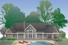 Dream House Plan - Rear Rendering