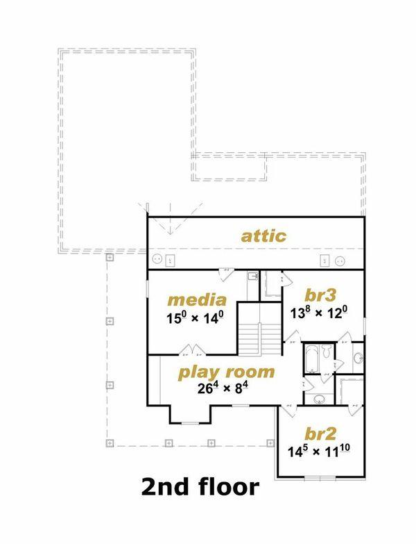 Traditional Floor Plan - Upper Floor Plan Plan #329-361