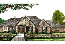 Architectural House Design - European Exterior - Front Elevation Plan #310-309